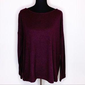 J Jill deep purple ribbed knit sweater Large